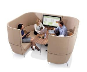 Orangebox Cwtch Meeting Booth with Table