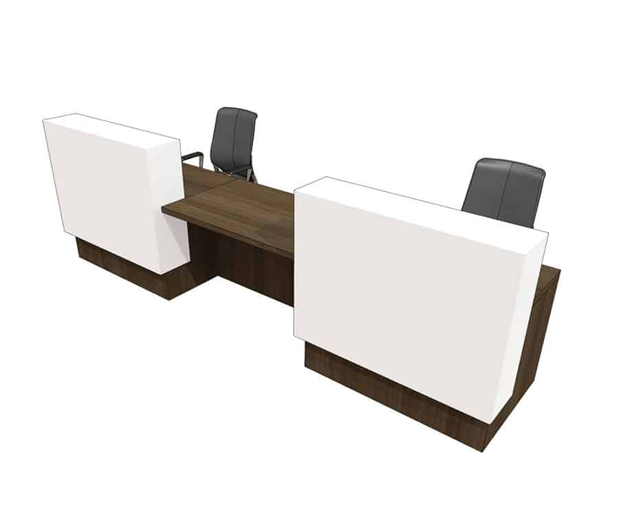 Clarke Rendall E.Voke Double Upstand 2 Person Desk