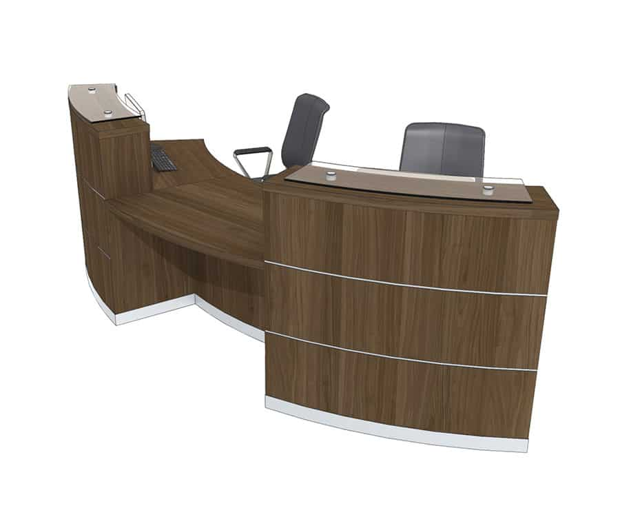 Clarke Rendall Eclypse Curved Double Upstand 2 Person Desk