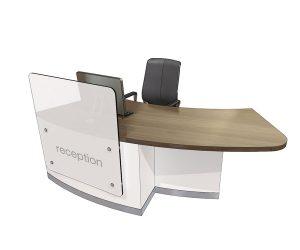 Clarke Rendall Zed Curved Left Handed Single Desk