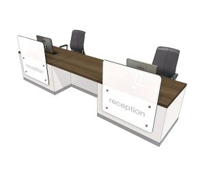 Clarke Rendall Zed Double Upstand 2 Person Desk