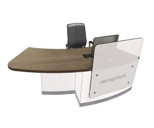 Clarke Rendall Zed Right Handed Curved Single Desk